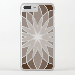 Shades of Brown | Geometric Pattern Clear iPhone Case