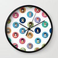 studio ghibli Wall Clocks featuring Studio Ghibli Flat by TubaTOPAL