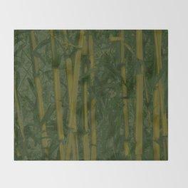 Bamboo jungle Throw Blanket