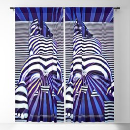 2519s-JPC Blue Striped Nude Woman From Behind Blackout Curtain