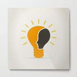 Head in a bulb Metal Print