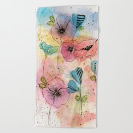 Wild Garden Beach Towel