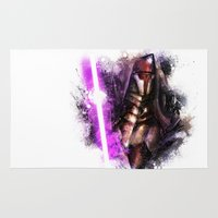 darth Area & Throw Rugs featuring Darth Revan by Vincent Vernacatola