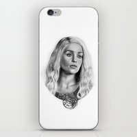 targaryen iPhone & iPod Skins featuring Daenerys Targaryen by Mutemouia
