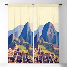 Geometric Machu Picchu, Peru Blackout Curtain