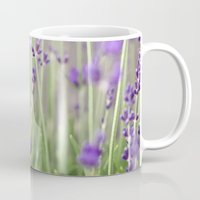 lavender Mugs featuring Lavender by A Wandering Soul