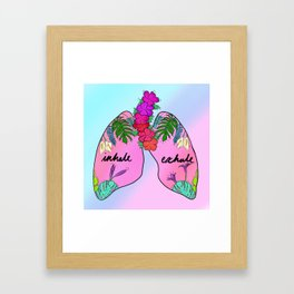 Inhale, Exhale Framed Art Print