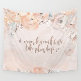 Vintage Blush Watercolour Wall Tapestry