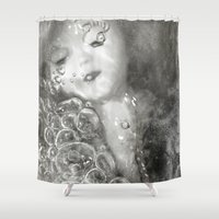 breathe Shower Curtains featuring BREATHE... by Jessica Yakamna