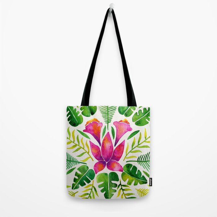 Tropical Symmetry – Pink & Green Tote Bag