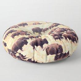 Buffalo Roundup at Custer State Park Floor Pillow