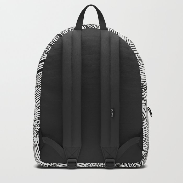 Black and White Geometric Illusion Backpack