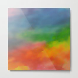 Blurred rainbow Metal Print