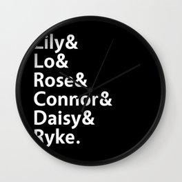 Addicted Series Gang Black Wall Clock
