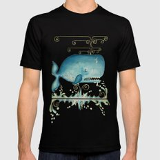 WHALE MEDIUM Mens Fitted Tee Black