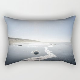 A picture of the swell of the beach at Paal 9 I | A journey across the Wadden Island of Texel Rectangular Pillow