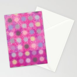 Colorful Sun Pattern II Stationery Cards