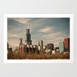 Windy Skyline Art Print