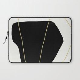Black and White Scandinavian Abstract Art Laptop Sleeve