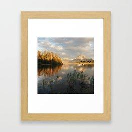 Sunrise on Jackson Lake, Grand Teton National Park Framed Art Print