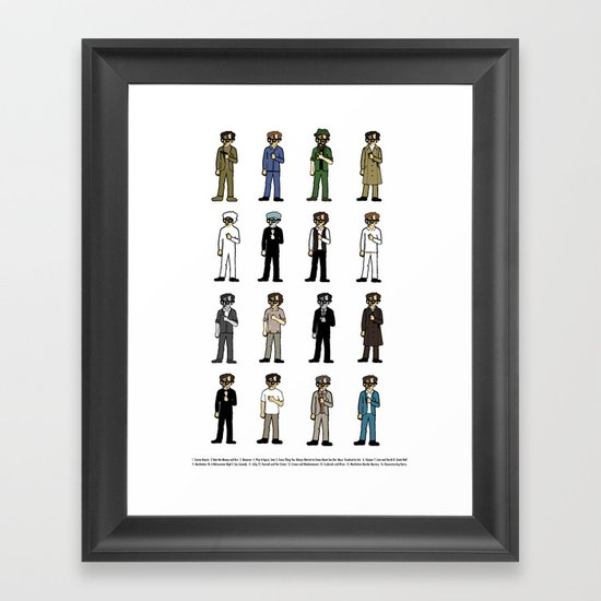 Woody Allen's Framed Art Print