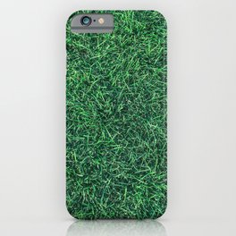 Green Grassy Texture // Real Grass Turf Textured Accent Photograph for Natural Earth Vibe iPhone Case