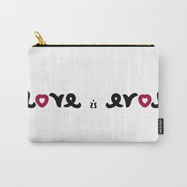 LOVE IS EROS ambigram Carry-All Pouch