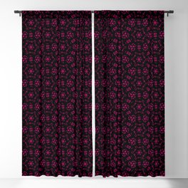 Neon Red Electric Night Blackout Curtain
