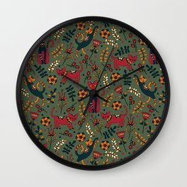 Cute cats pattern Wall Clock