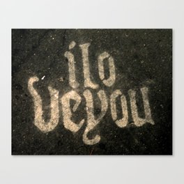 iloveyou Canvas Print