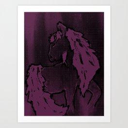 Lavender; horse Art Print