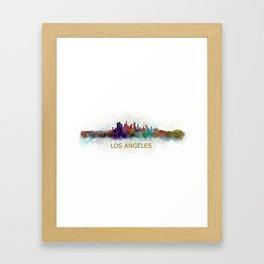 Los Angeles City Skyline HQ v4 Framed Art Print