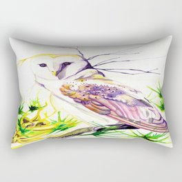 Owl Furze Wisdom  Rectangular Pillow
