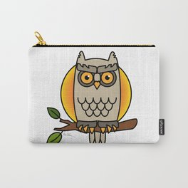 Owl in a Circle Carry-All Pouch