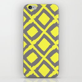 Slate Diamonds on Lemon iPhone Skin