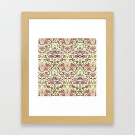 Orchid Art Nouveau Framed Art Print
