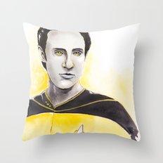 Lieutenant Commander Data Throw Pillow