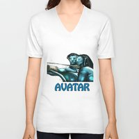 avatar V-neck T-shirts featuring Avatar by Dano77