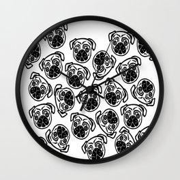 Pug Faces Wall Clock