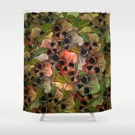 Apple Skull Shower Curtain