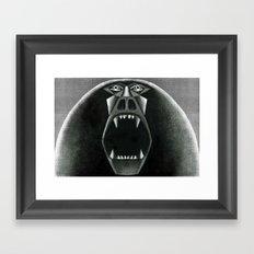 Berserker Baboon Framed Art Print
