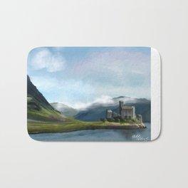 Scotland Castle Landscape Bath Mat