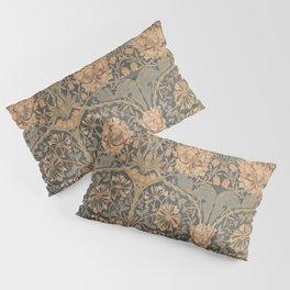 Honeysuckle by William Morris 1876 Antique Vintage Pattern, CC0 Spring Summer Pillow Sham