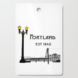 Historic Portland, Oregon by Seasons K Designs Cutting Board