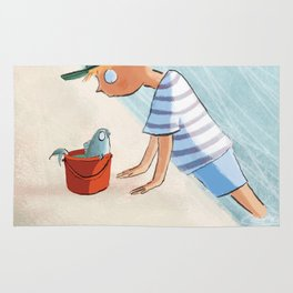 The Boy and the Bucket Rug
