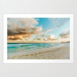 Cancun Sunset Art Print