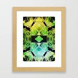 Green Mandala-Heart Chakra Framed Art Print