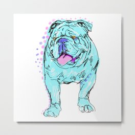 The Happy Bully Love of my Life! Metal Print