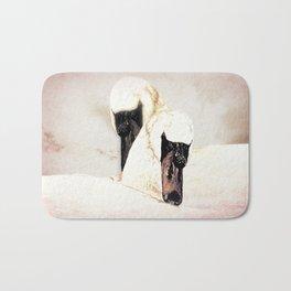 Dreamy White Swans (bird) Art A304 Bath Mat