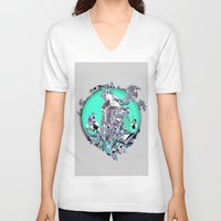 cityscape V-neck T-shirts featuring Cityscape by infloence